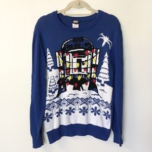 Star Wars R2D2 Holiday Sweater - M